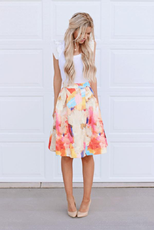 Soft, Floral, Girly-girl Print Dress