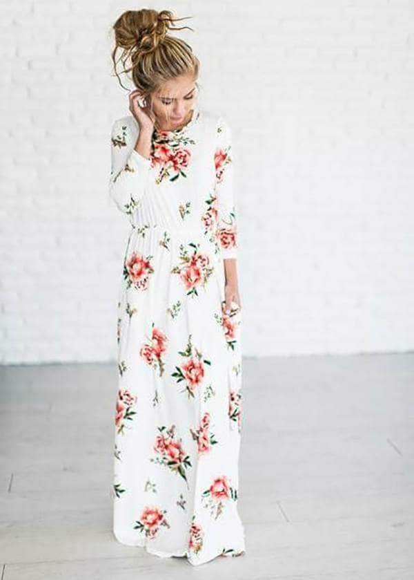 Functional Maxi Dress With Pockets And Easy Flow And Grace