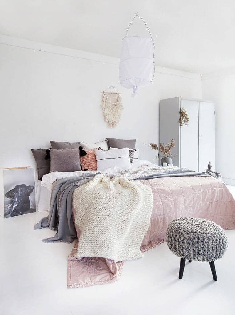 Shades Of Salmon And Powder Pink With Dark Gray And White