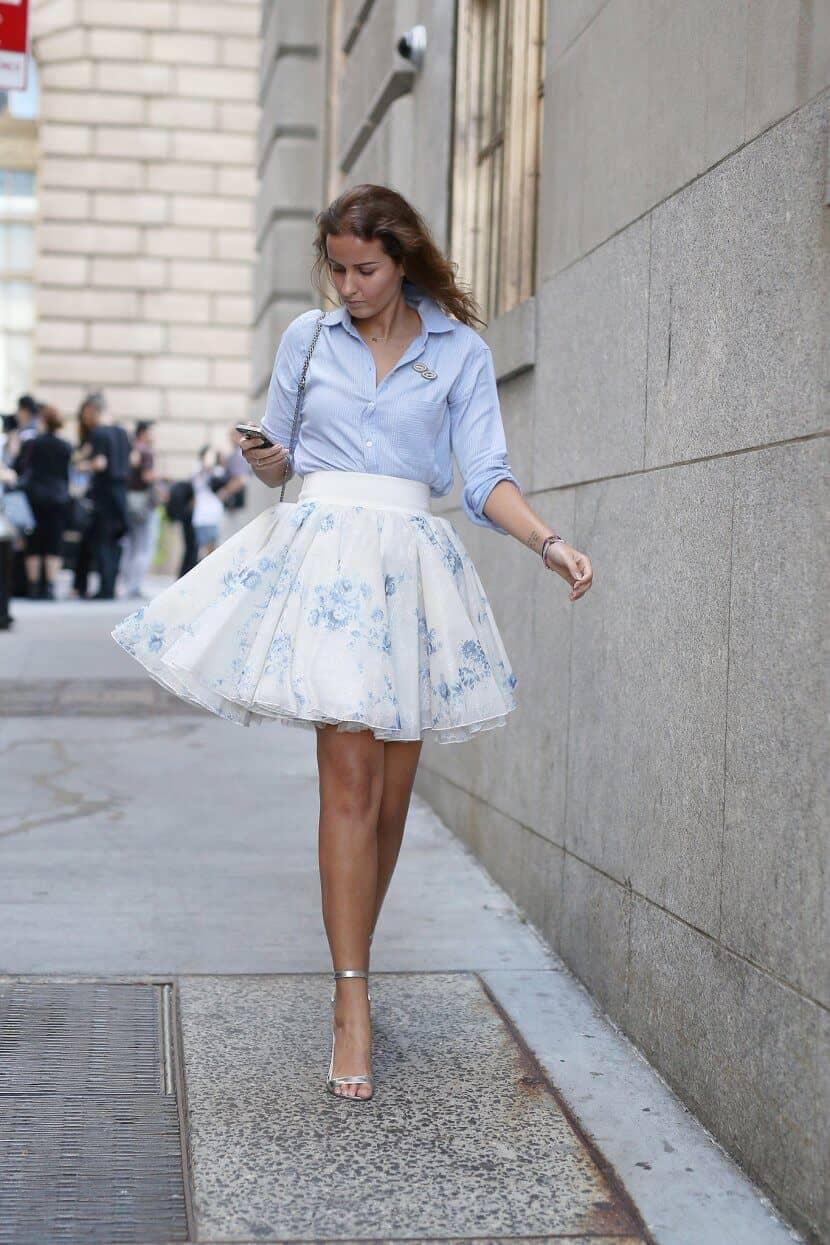 Ballerina Tulle Skirt For Office And Day Wear