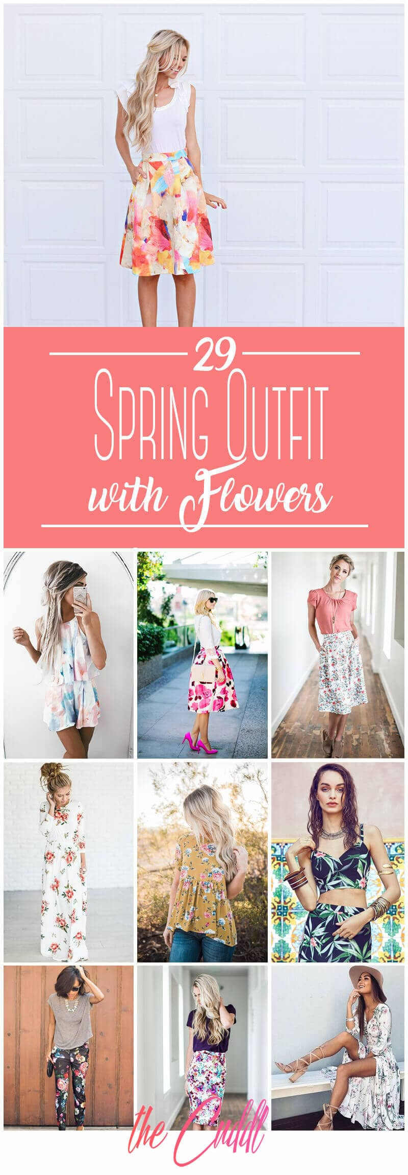 29 Chic Spring Outfits With Flowers
