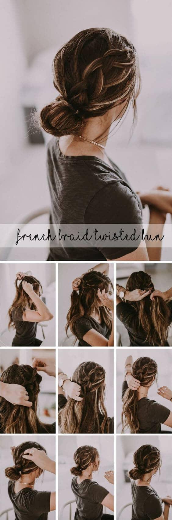 Side Braid and a Bun