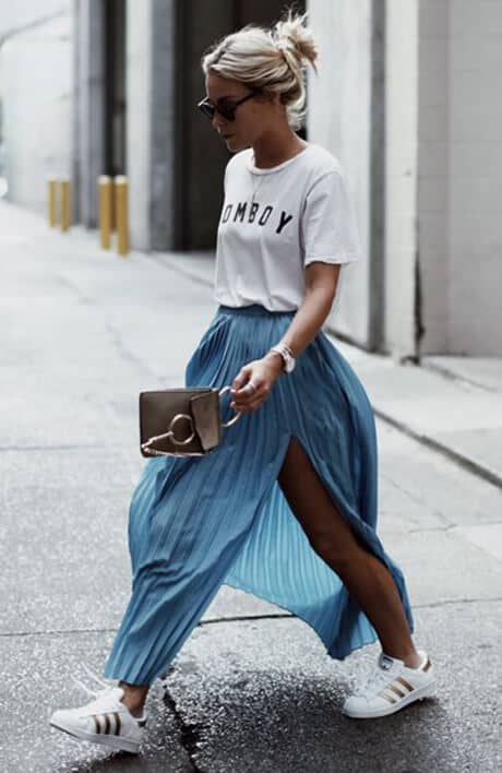 All The Blue Pleated Skirts
