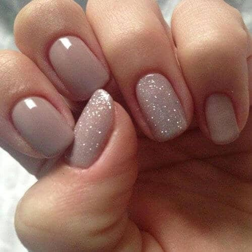 Nude Champagne And Sparkly Accents