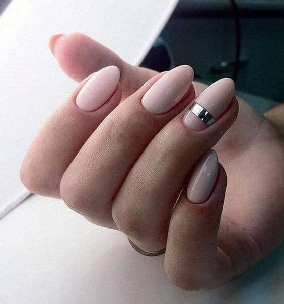 A Single Nail Having The Metallic Stripe