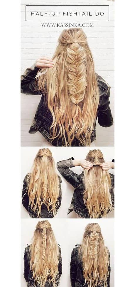 Half Hair Fishbone Braid