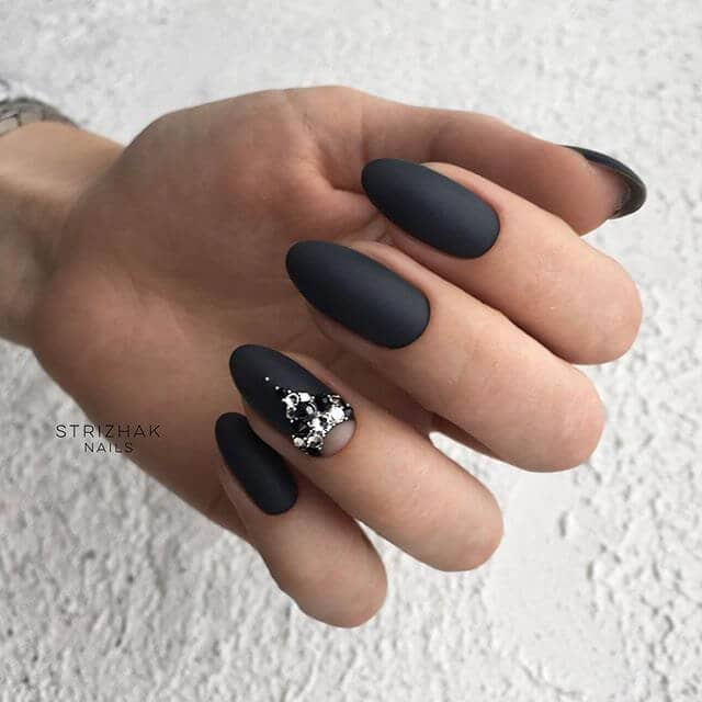 Matte Black With an Intricate Design