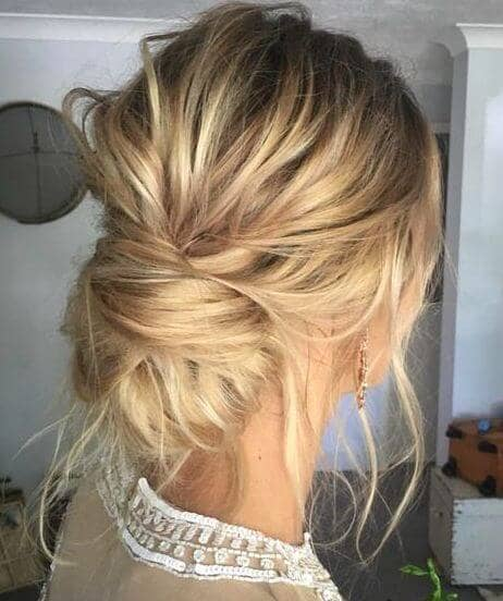 Casual Knot With Wispy Tendrils