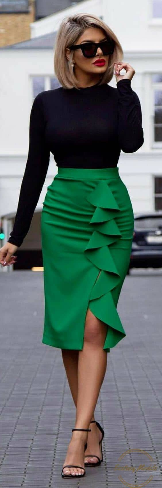 You Can Never Go Wrong With A Colorful Pencil Skirt