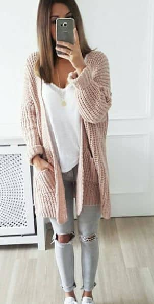 Cardigan And Skinnies