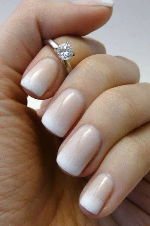 French Ombre Classic Wedding Nails