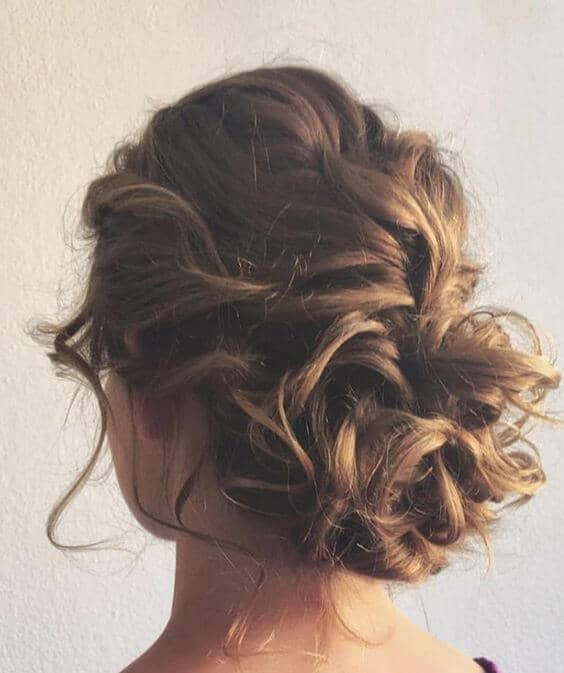 Rebal Ringlets in a Bun
