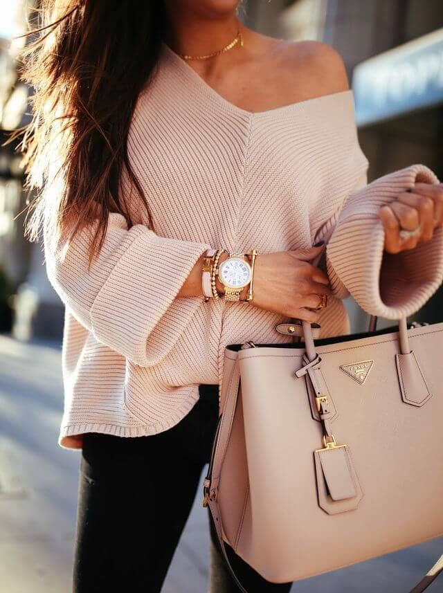 An Off The Shoulder Sweater Always Does The Trick
