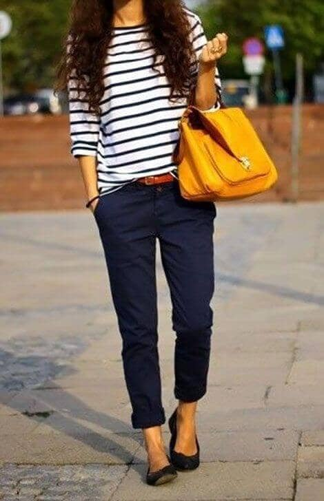 Cuff Pants And Stripes