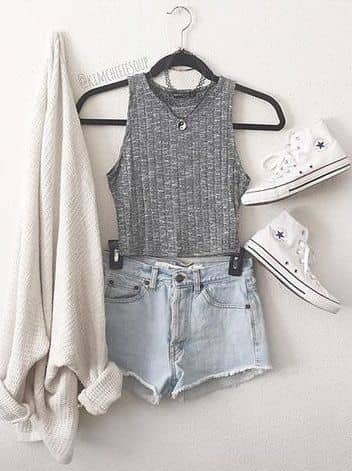 Well-Put-Together in Denim Shorts