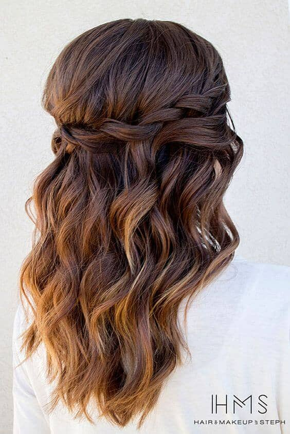 Braided Crown And Easy Waves