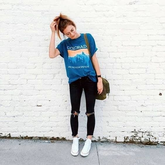 Baggy Tees And Sneakers