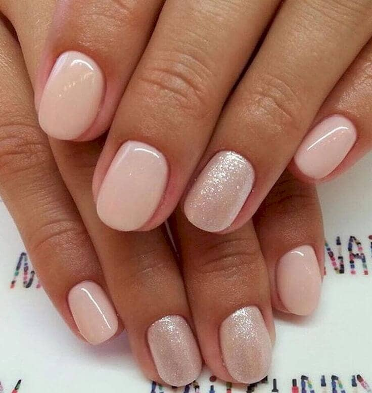 Pretty in Pink Short Nail Design