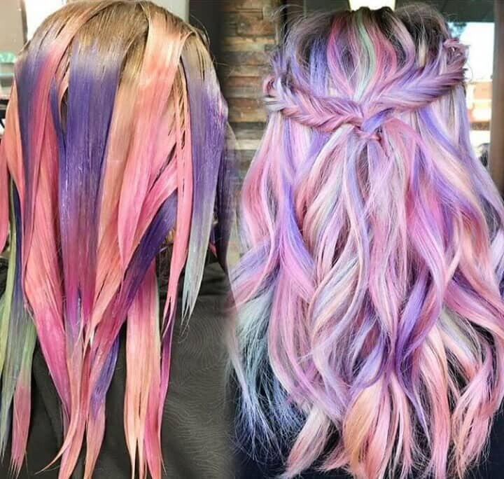 I'm in love with these cotton candy pinks and purples.