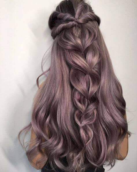 Loose braids will create a wispy look in your hair