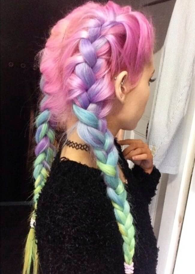 Unicorn braids are the trend we all need to try-so gorgeous!