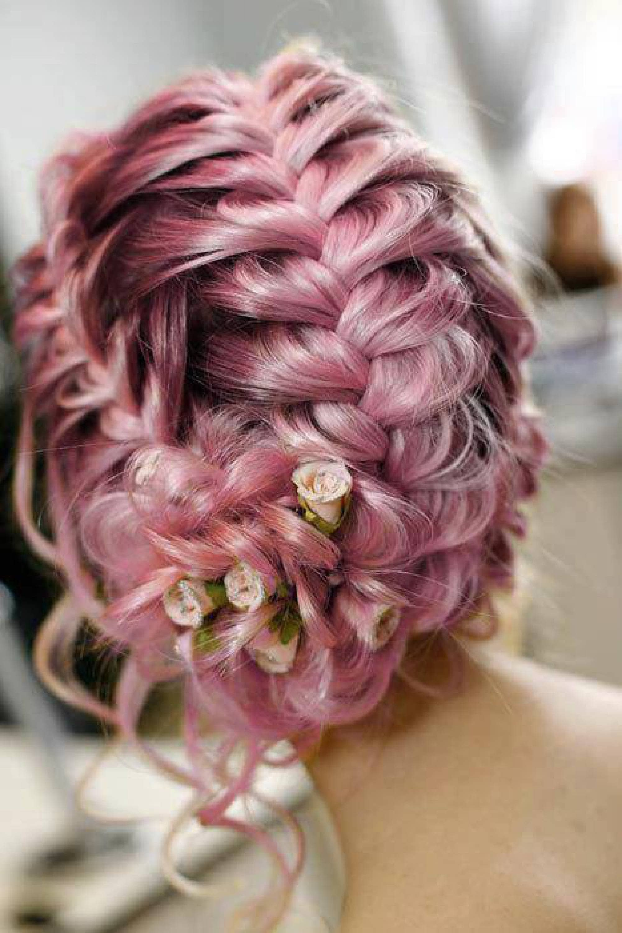 Tie under a braid for your updo