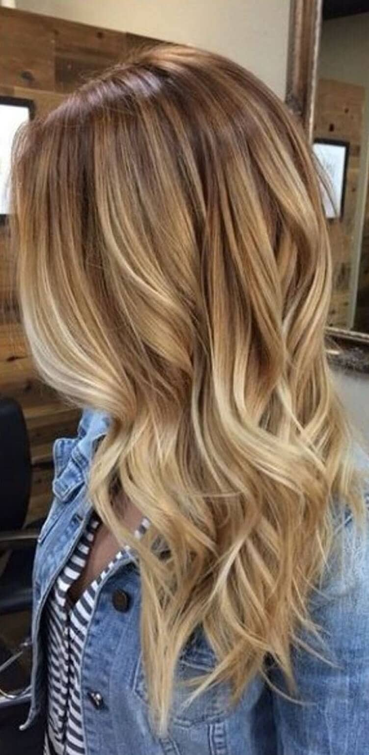 Honey Color with Sun-bleached Tips