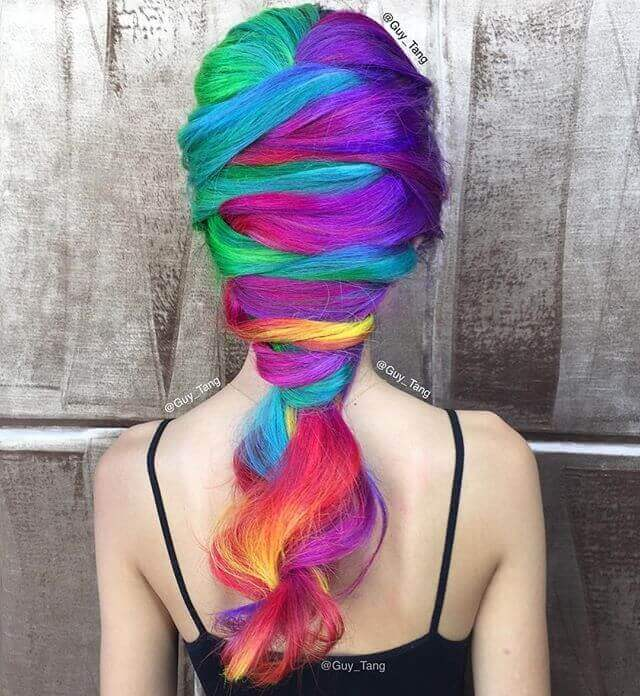 Amazing Unicorn Hair with a Creative Braid