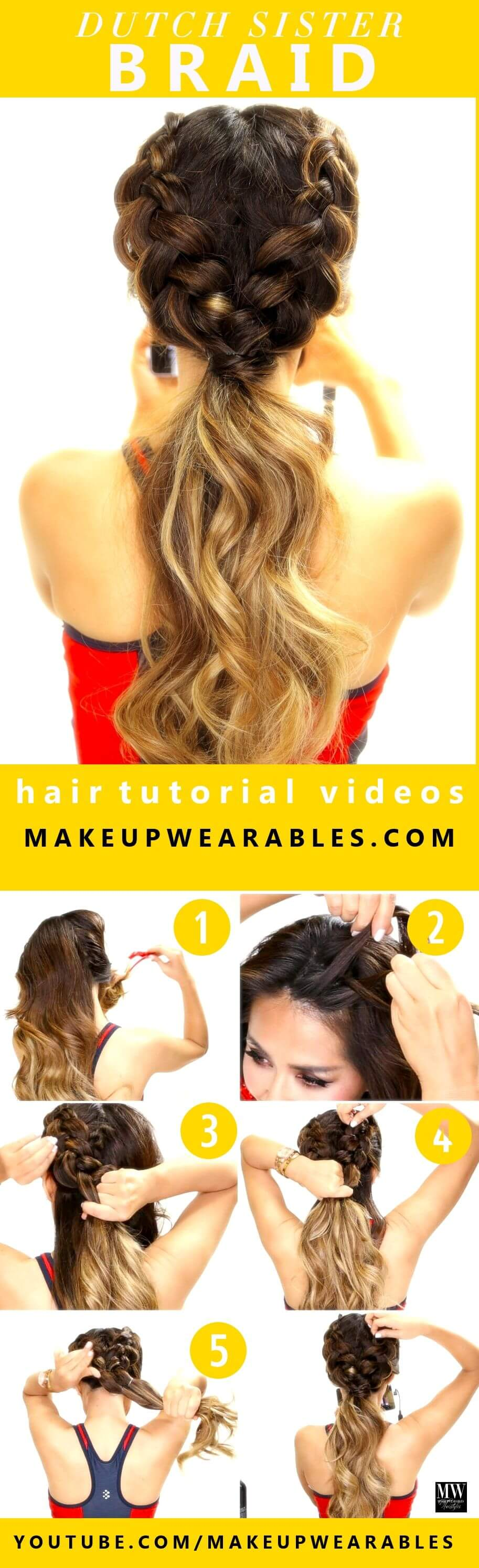 Make two braids that connect