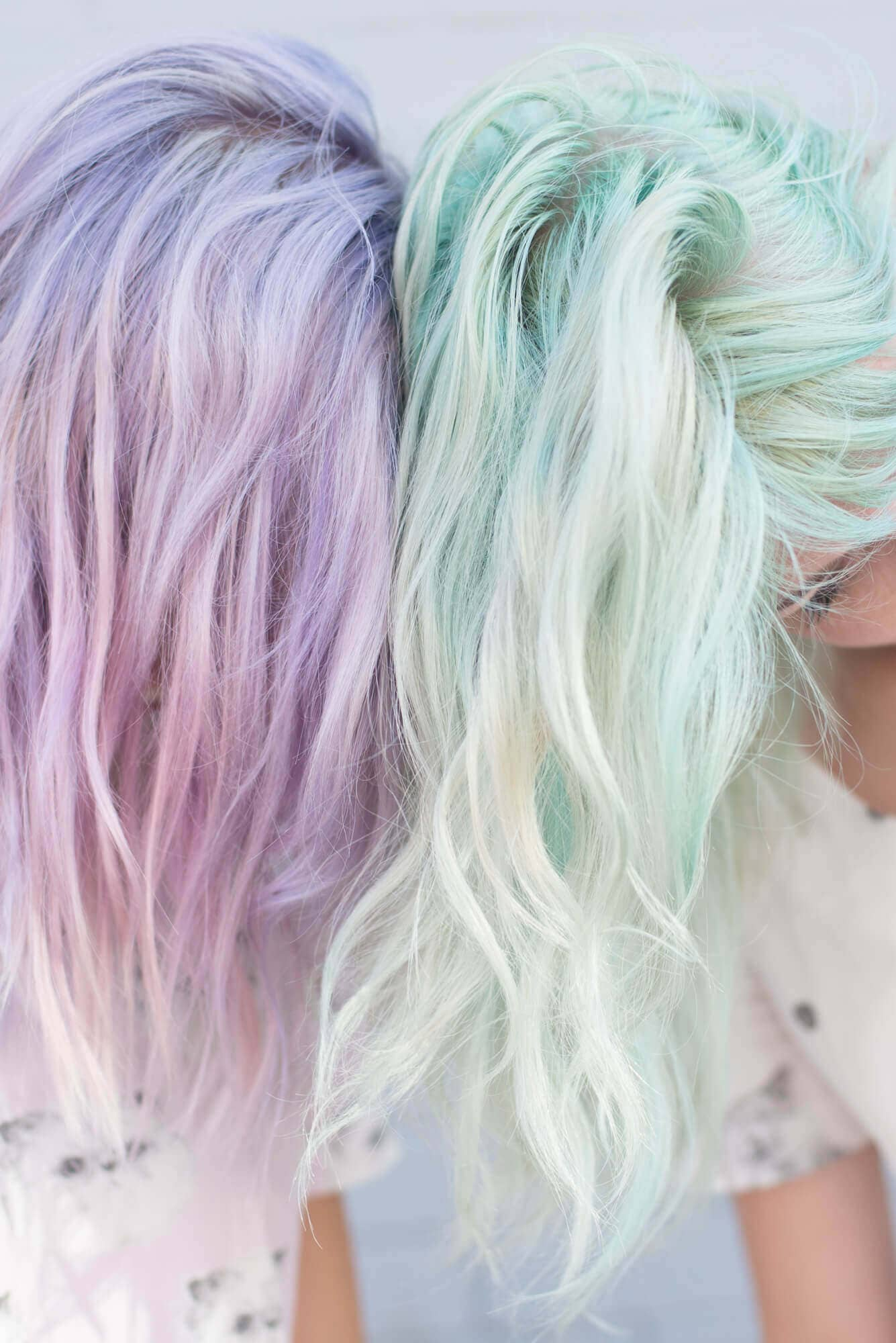 Two Friends with Pastel Hair