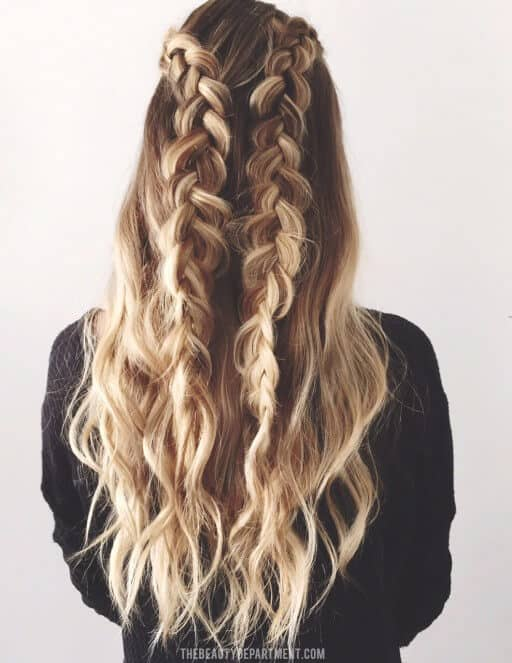 Braid sides to flow over your hair