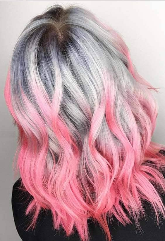 Silver Roots and Pink Tips