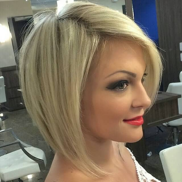 Straight and Angled Haircut Style