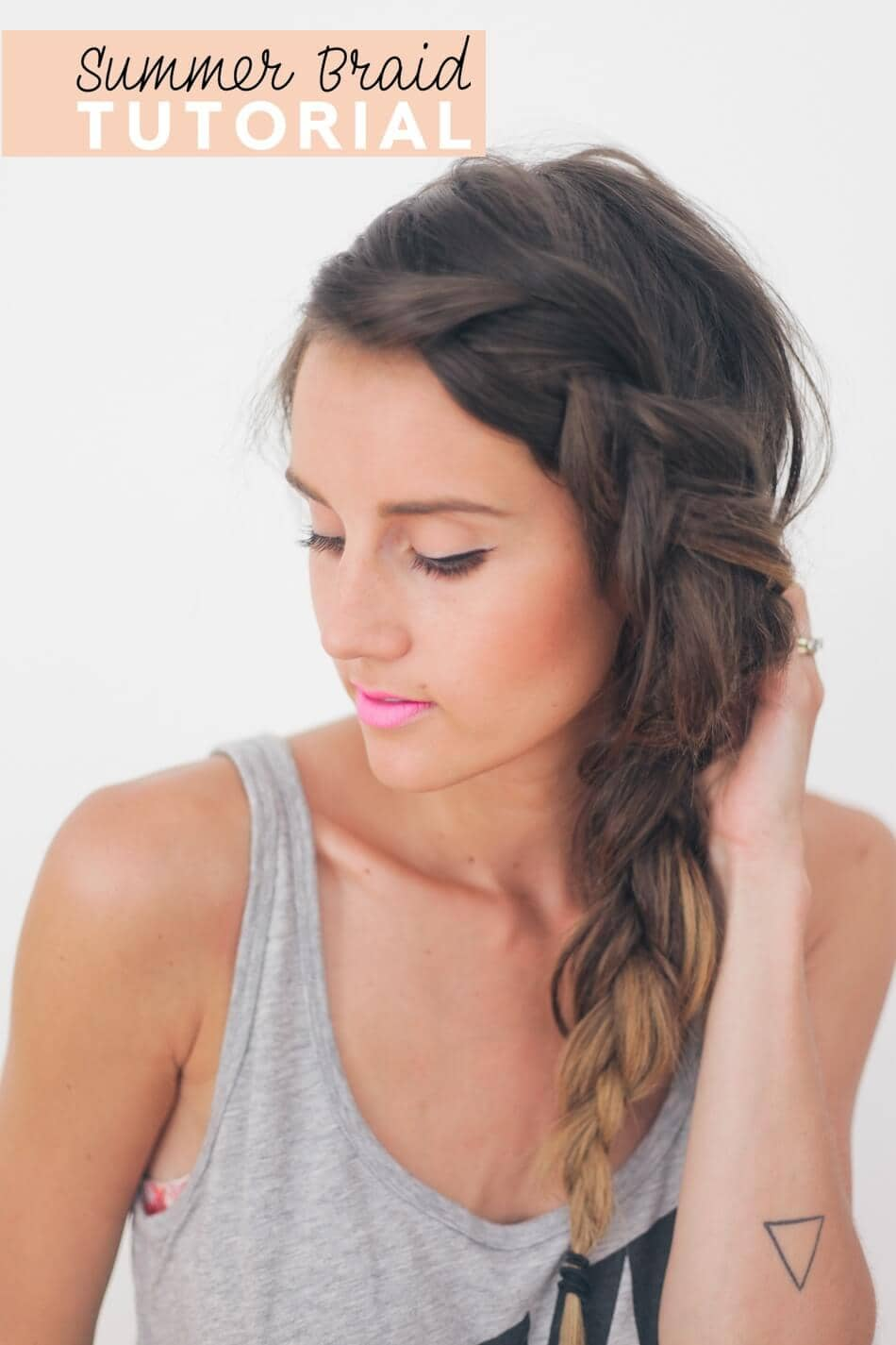 Keep cool with this side braid