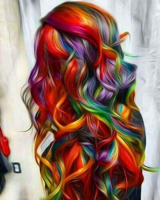 Fabulous Unicorn Hair Dye with Loose Curls