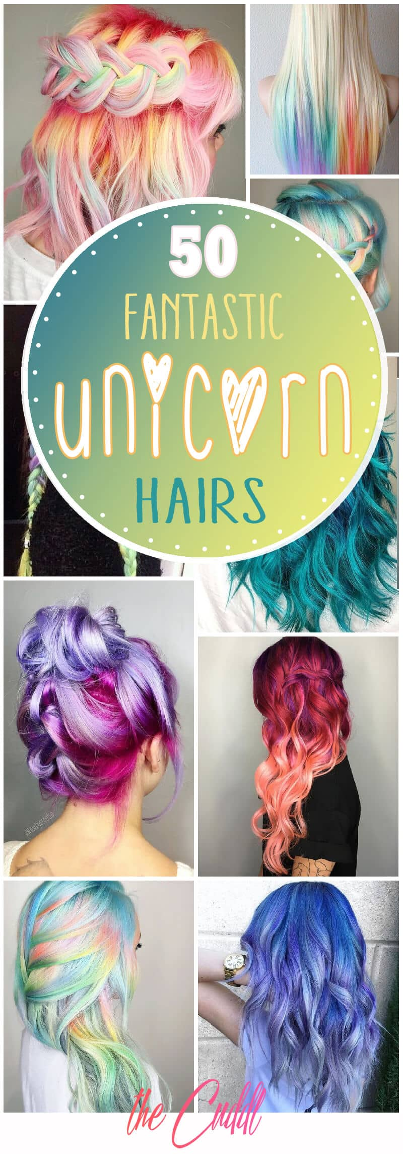 50 Stunningly Styled Unicorn Hair Color Ideas To Stand Out From The Crowd