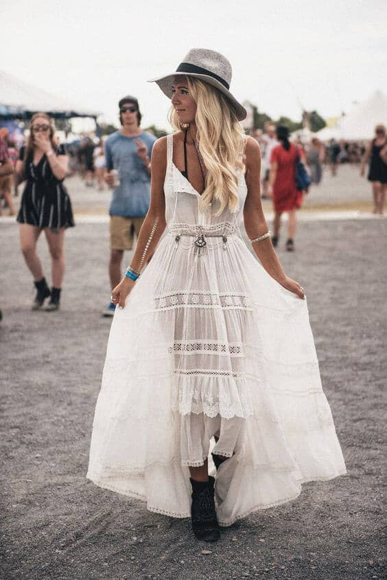 Gorgeous White Dress with Boots