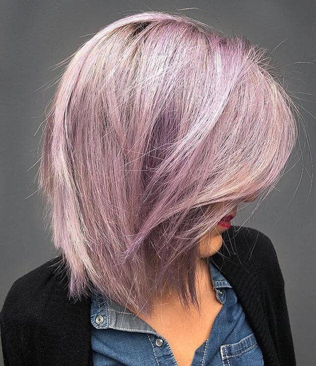 Colorful Hairstyle for Medium Short Straight Hair
