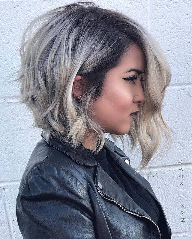 A-symmetrical Short Wavy Hairstyle