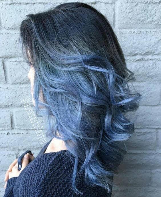 Cascading Blue Layered Sweet Curls