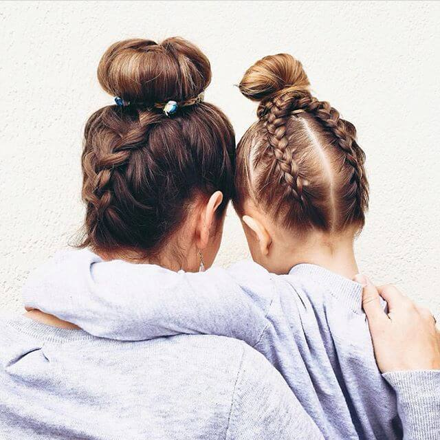 Mom and Me Updo Braids
