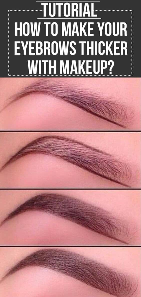 How to Fill In Thin Brows