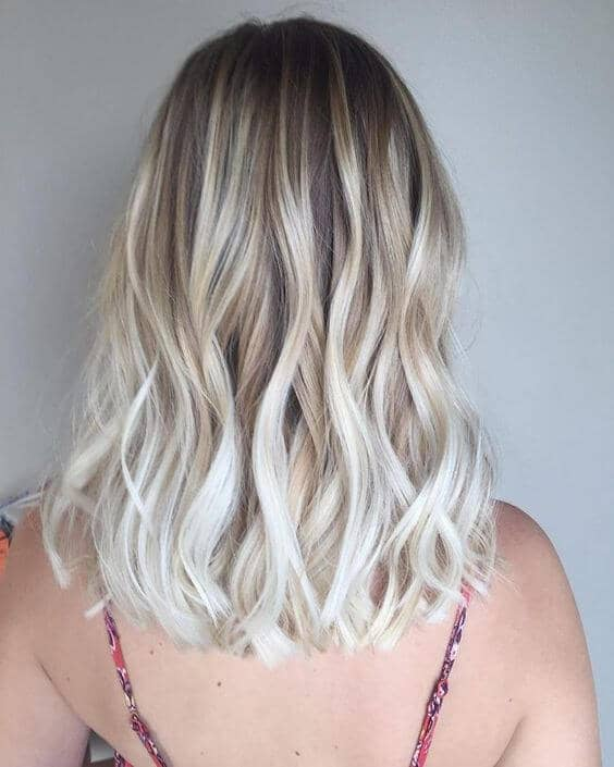 A platinum version of the blonde ombre hairstyle