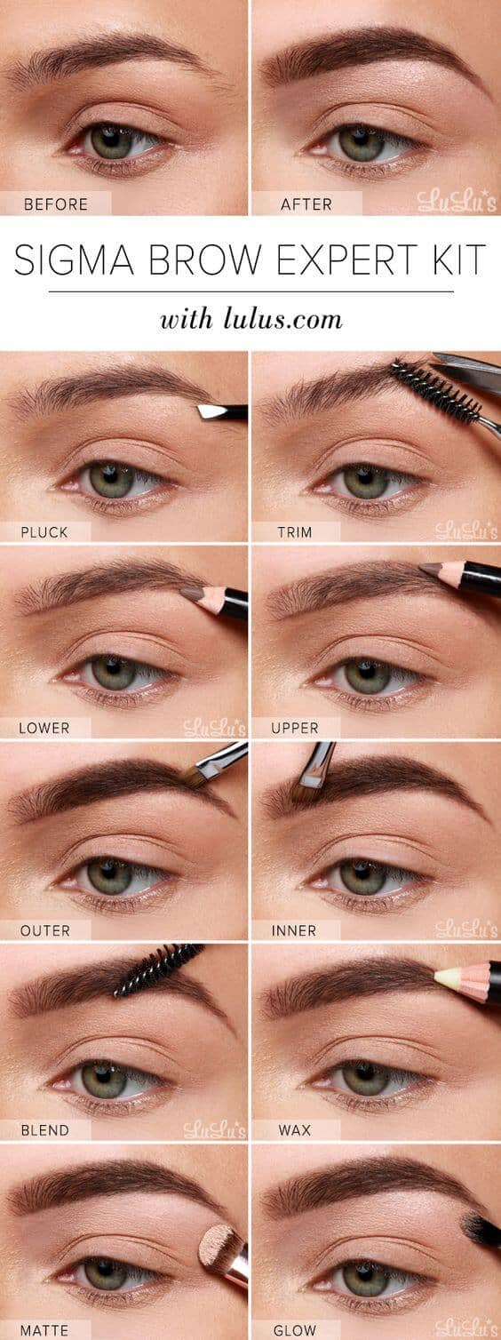25 Step By Eyebrows Tutorials To