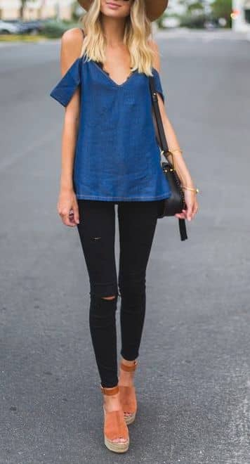 Delightful and Dainty Black Jeans Wardrobe