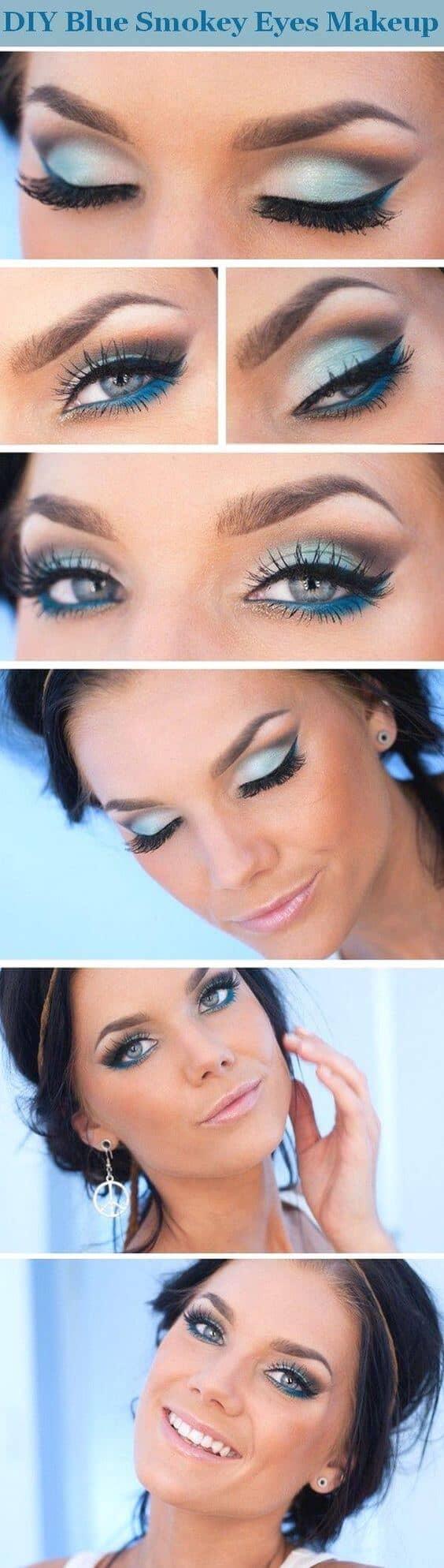 Princess Jasmine-Inspired Smoky Blue Makeup