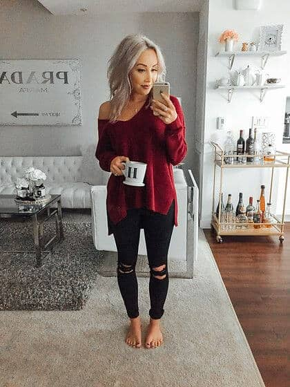 Comfy and Elegant in Crimson-Rose
