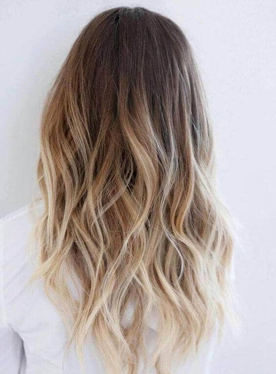 A modern ombre bomb with lots of layers