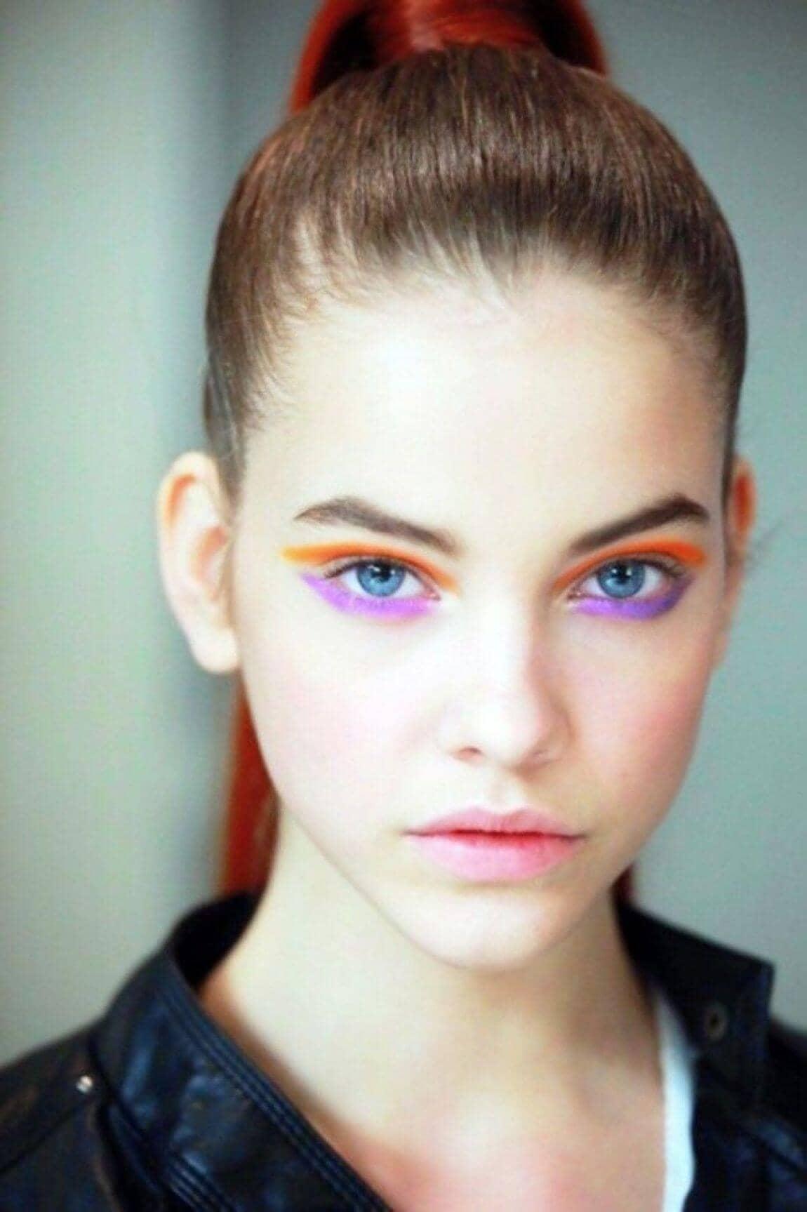 Bare Lips, Bold Eyes Runway Makeup