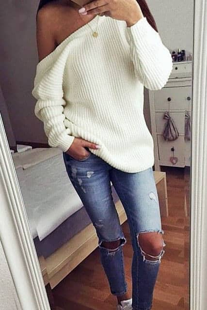 White Knit Always Fits